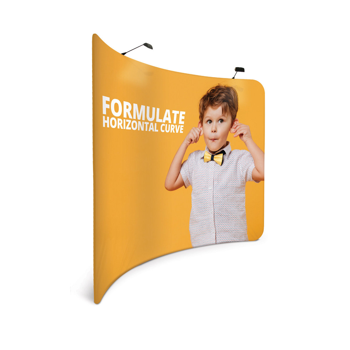 Formulate Horizontal Curve Stretch Fabric Display Exhibition Stand