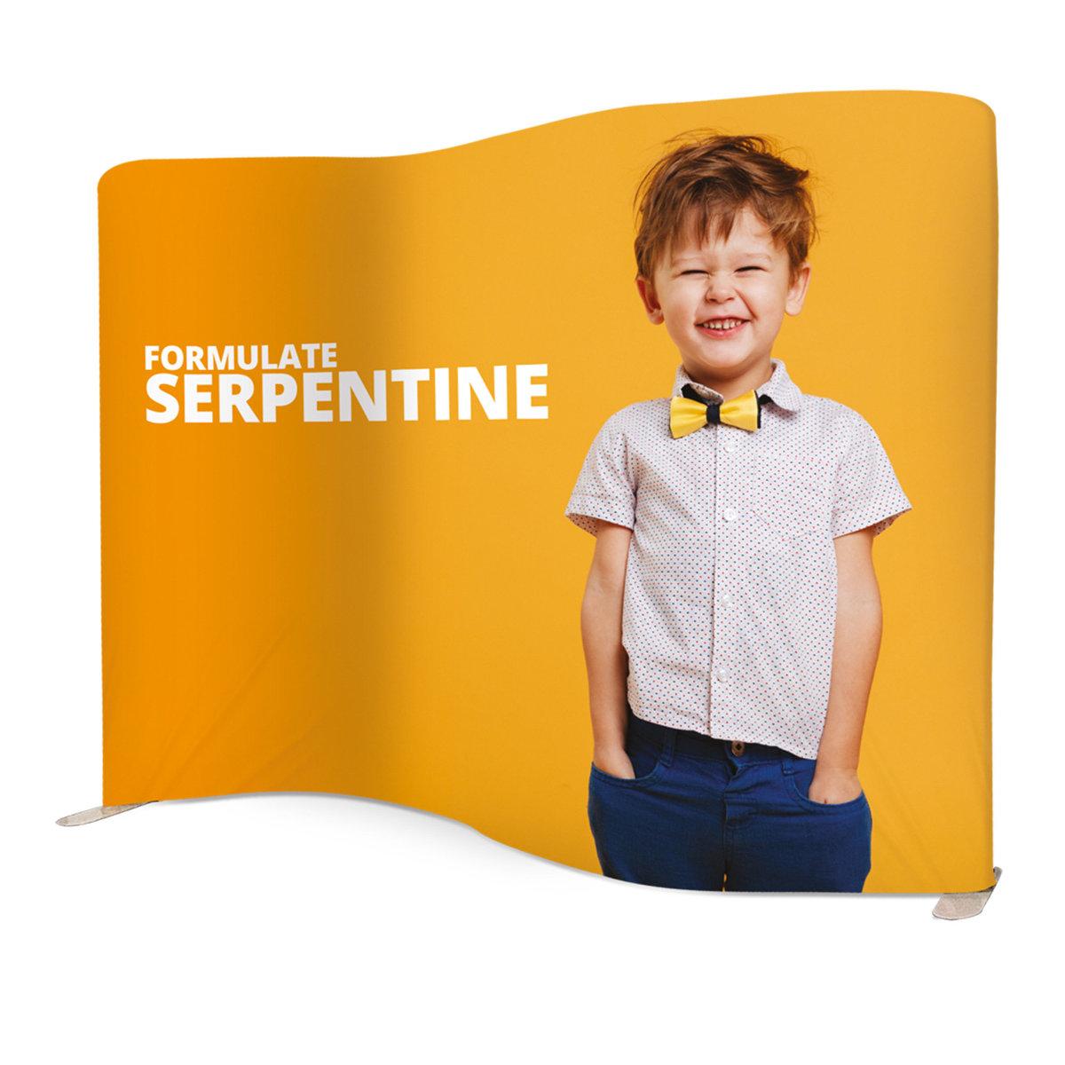 Formulate Serpentine Stretch Fabric Display Exhibition Stand