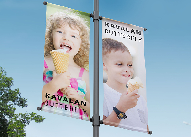 PVC FREE BANNER KAVALAN BUTTERFLY